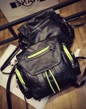 deri seyahat çantası yeşil ve gri sk-148