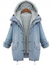 kapüşonlu kot ceket sk-233