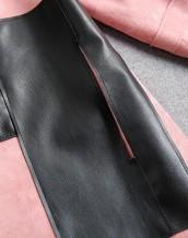 sk-365 deri detaylı süet ceket deri detayı
