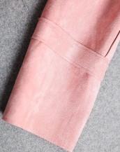 sk-365 deri detaylı süet ceket kol