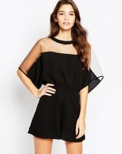 üstü tül tulum elbise sk2638