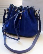 büzgülü mavi omuz çantası sk3022