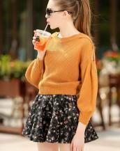 taba rengi kazaklı baharlık mini elbise sk-2281