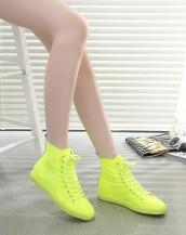 yüksek bilekli sneaker fıstık yeşili sk2853