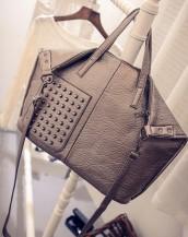 bej rengi zımbalı yumuşak deri kol çantası sk5019