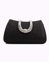 elmas taşlı siyah gece çantası sk4556