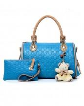 kabartma deri mavi kol çantası sk4765