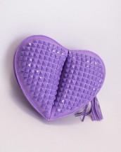 mor küçük kalp çanta sk4860