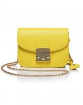 sarı zincirli küçük kol çantası sk5587