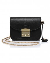 siyah zincirli küçük kol çantası sk5587