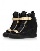 timsah derisi siyah sneaker sk4629