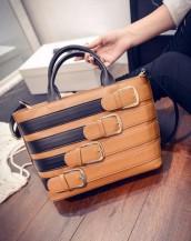 toka detaylı taba rengi deri kol çantası sk5159