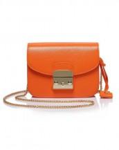 turuncu zincirli küçük kol çantası sk5587