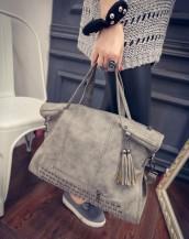 zımbalı süet gri kol çantası sk4601