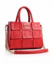 zincirli kırmızı deri çanta sk4191