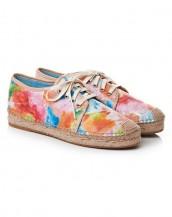 çok renkli desenli bağcıklı espadril ayakkabı sk7768