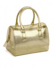 altın metal fermuarlı pvc silikon çanta sk6875