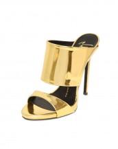 altın sarısı kalın bantlı rugan sandalet sk6588