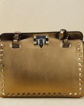 altın zımbalı trapeze kol çantası sk6309