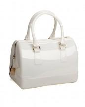 beyaz metal fermuarlı pvc silikon çanta sk6875