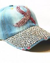 buz mavisi zımbalı denim kot şapka sk5910