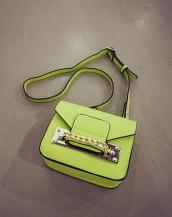 fıstık yeşili zincir detaylı küçük çanta sk7309