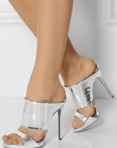 gümüş kalın bantlı rugan sandalet sk6588