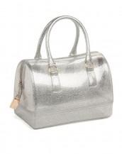gümüş metal fermuarlı pvc silikon çanta sk6875