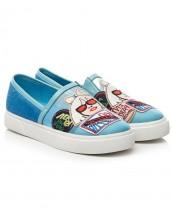 gerçek deri mavi bez ayakkabı sk7177