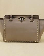 gri zımbalı trapeze kol çantası sk6309