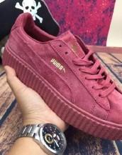 kırmızı hakiki deri rihanna spor ayakkabı sk7002