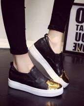 kabartma deri siyah yazlık ayakkabı sk7856