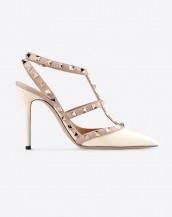 krem zımba bantlı topuklu sandalet sk6269