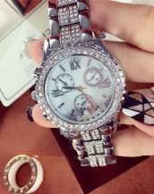 kristal lüks taşlı gümüş kol saati sk7987
