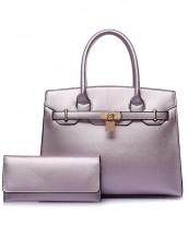 lila ünlü marka kol el çantası sk6544