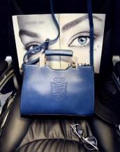 mavi metal saplı deri çanta sk6339