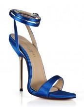 mavi metal topuklu tokalı sandalet sk6495