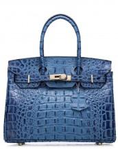 mavi timsah desenli tote çanta sk7125