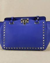 mavi zımbalı trapeze kol çantası sk6309