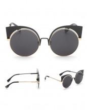 metal çerçeveli siyah altın kedi gözlük sk7530