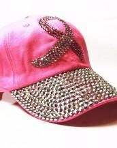 pembe taşlı zımbalı denim kot şapka sk5910