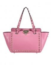 pembe zımbalı trapeze kol çantası sk6309