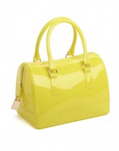 sarı metal fermuarlı pvc silikon çanta sk6875