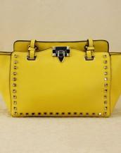 sarı zımbalı trapeze kol çantası sk6309