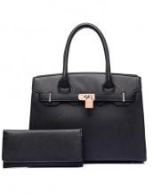 siyah ünlü marka kol el çantası sk6544