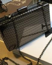 siyah metal küçük el çantası sk5784