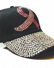 siyah taşlı zımbalı denim kot şapka sk5910
