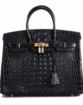 siyah timsah desenli tote çanta sk7125