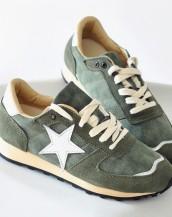 star bağcıklı haki yeşil spor ayakkabı sk7975