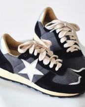 star bağcıklı siyah spor ayakkabı sk7975